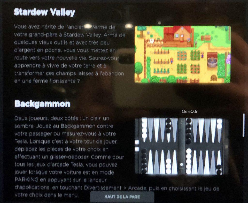 comment jouer à Stardew Valley / backgammon en tesla