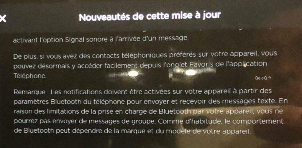 comment lire messages sms textes a haute voix dans tesla model 3 S X Y