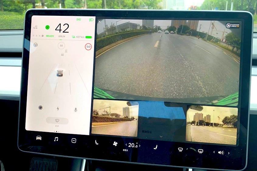 capture ecran camera recul ecran tesla model 3 S X Y version 2020.24