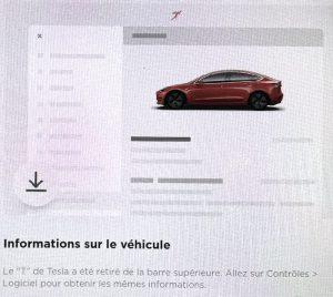 ou trouver les infos sur la voiture ecran tesla model 3 et model Y