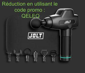 pistolet de massage Jolt, code promo QELEQ