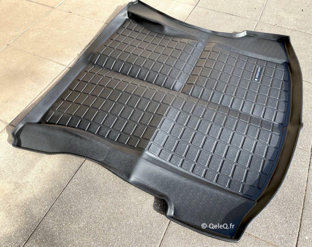 depliage tapis de coffre arrière tesla model 3 / model Y green drive