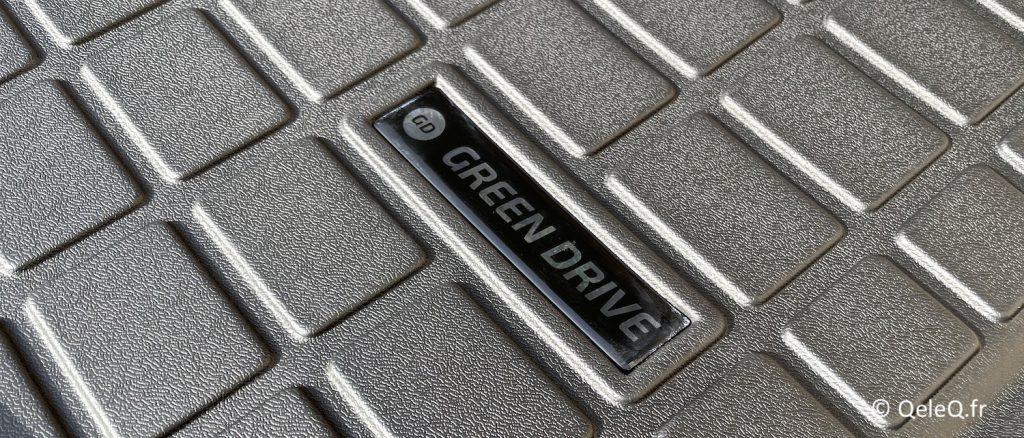 logo greendrive tapis tesla model 3 greendrive coffre arrière