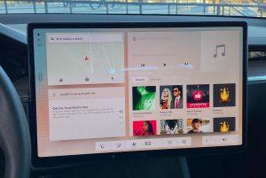 photo et video ecran model 3 en version 11 nouuvelle interface