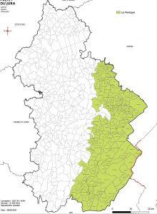 liste des communes loi montagne 2 dans le département du jura